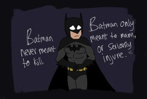 Batman Never Meant To Kill by Draconis-Silver