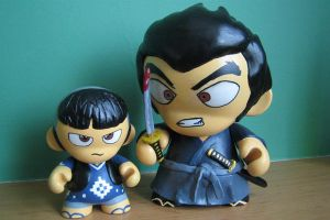 lone wolf and cub munny by guillotinemaster75