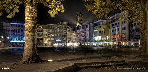 Stuttgart marketplace at night by wulfman65