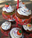 Pumpkin Spice Cupcakes by CantankerousCupcake