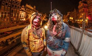 Amsterdam Halloween Parade- Bloody Hunters by Owlbites