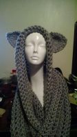 Thick Hooded scarf by AngelOfAsh