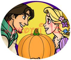 Graphic Design - Tangled Halloween - 2013 by Lokotei