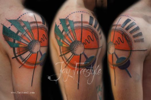 Abstract tattoo - Jay Freestyle by Tattoo-J
