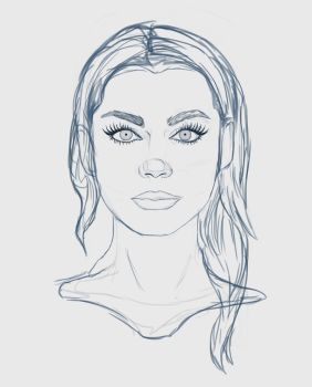 Female Face Study by Cinder-Cat