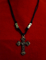 Ornate Cross Necklace by BloodRed-Orchid