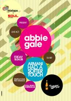 abbie gale live poster by PoorDesigners
