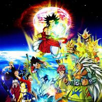 Super Saiyan 4 Broly Vs. The World of Heroes by yugioh1985