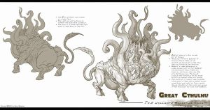Shub Niggurath Model Sheet by TentaclesandTeeth
