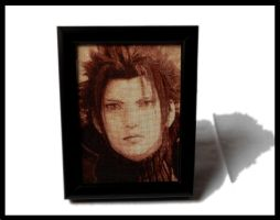Zack - Cross Stitch Framed by shingorengeki