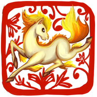 Year of the Horse - Ponyta by sapphireluna