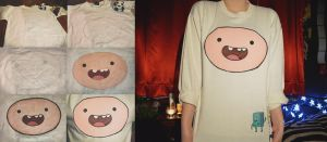 DIY: Finn the Human sweatshirt (FRONT) by Cuilwarthien666