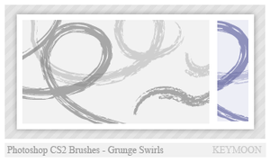 Grunge Swirls Brushes by KeyMoon