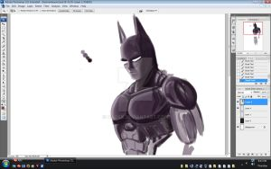 Batman Beyond WIP Sketch by DaosX