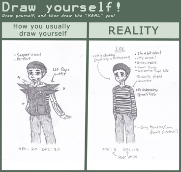 Draw yourself meme (lol, my comeback submission) by LukeAndZiky
