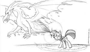 Twilight Dragon Spell Sketch by endlessnostalgia