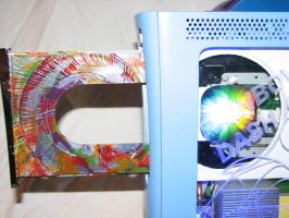 Rainbow Dash Custom Xbox 360 - Disk Tray by Nightowl3090