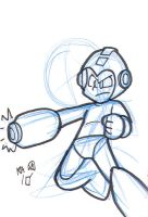 Mega Man Sketch Card by Pembroke
