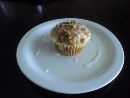 Apple Streusel Muffin by LegendofFullmetal