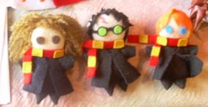 Harry, Ron, and Hermione by ligea