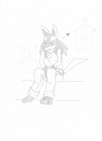 Rin, Secon practice (Sketch) by xcat13