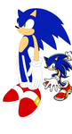 Sonic Sth 06 Style Side Pose Scetch1 by Tru-sonic-t-h-50413