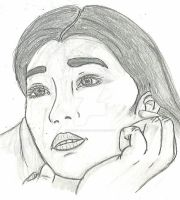 Gong Li Sketch by vincent-is-mine