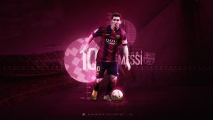 Lionel Messi 2014/15 Wallpaper by AlbertGFX