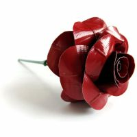 Black and Red Duct Tape Rose by DuckTape-Rose
