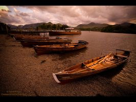 Boats at Dusk by GMCPhotographics