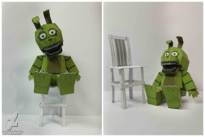 five nights at freddy's 4 Plush Trap Papercraft by Adogopaper