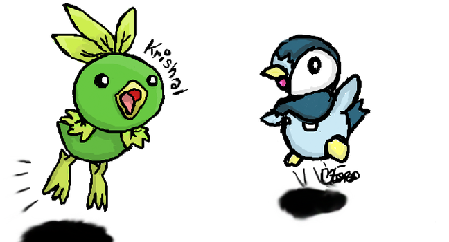 Leachic and Piplup by Haunted--Mind