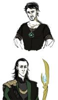 Tony and Loki doodle by SilvesterVitale