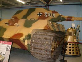 KING TIGER and DALEK, TANK MUSEUM by drshaggy