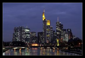 Frankfurt Skyline by cody29