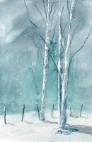 The Blue of Winter by Mathieu-ARTS
