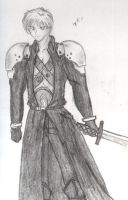 Kain as Sephiroth by august-fehrmont