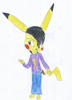 Todd the Pikachu by KendraTheShinyEevee
