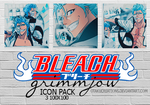 Bleach Grimmjow icon pack by OtakuCreations