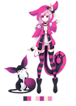 Custom Adoptable in Hot Pink by Andreia-Chan