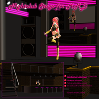 MMD Nightclub Stage by Trackdancer
