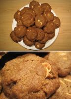 Peanut Butter Chips, White Choc Chip Cookies by flameshaft