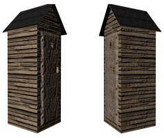 3D outhouse by Imalune