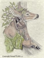 Deer Anthro Portrait by RussellTuller