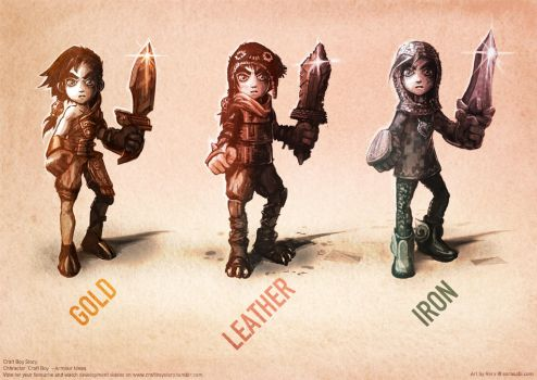 Help Me Choose Craft Boy's Armour? by RoryDoona
