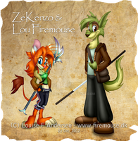 Lou Firemouse and ZeKenzo by lu-raziel