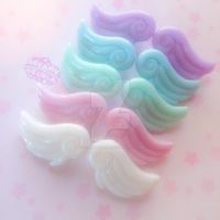 Dreamy Candy Wing Clips by DreamyNebula