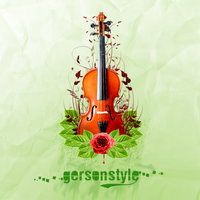 Floral Violin by GersonDesign