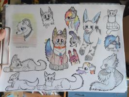 College Sketchdump by Lockian