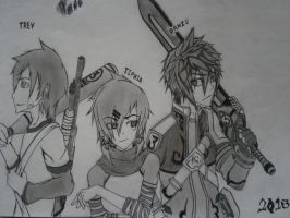 My OCs together ( yay ) :o by FireWeaver360